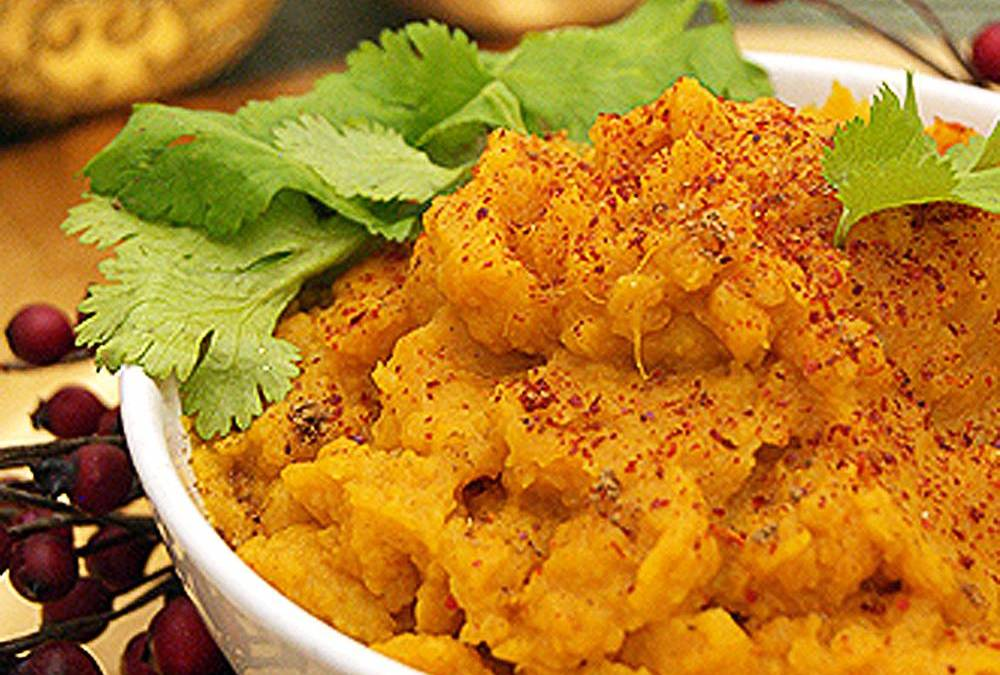 Curred Mashed Sweet Potatoes