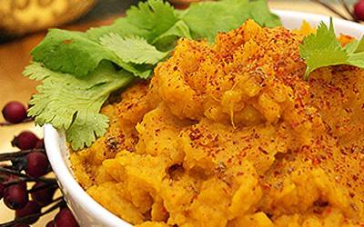 Curried Mashed Sweet Potatoes